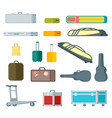 colorful baggage collection vector image