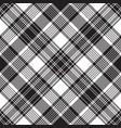 black check diagonal plaid seamless pattern vector image