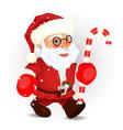 Santa on the white eps 10 vector image