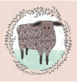 Cute little sheep for children vector image
