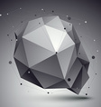3D abstract tech perspective geometric unus vector image