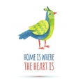 doodle watercolor bird vector image