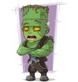 Cartoon scary green monster Frankenstein vector image