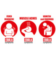 Ebola symptoms vector image