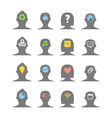 Human head silhouettes vector image