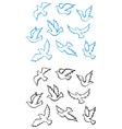 Pigeons doves set vector image