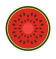 Sliced watermelon flat icon vector image