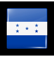 Flag of Honduras Glossy Icon Square Shape vector image