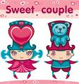 sweet couple vector image vector image