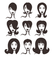 different hairstyles collection vector image