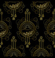 gold mountain and sun seamless pattern vector image