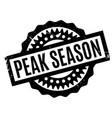 peak season rubber stamp vector image