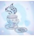 Watercolor Teacup vector image