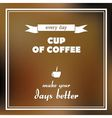 cup of coffee poster vector image vector image