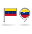 Venezuelan pin icon and map pointer flag vector image