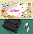 Designer desk artist collections of flat design vector image vector image