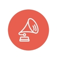 Gramophone thin line icon vector image