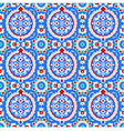 Blue and red Islamic ornaments small vector image vector image