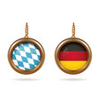 blue-white bavarian flag and german tricolor vector image