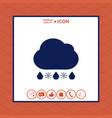 cloud rain snow icon vector image