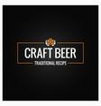 craft beer logo design background vector image