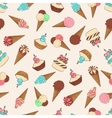 Desserts seamless pattern with ice cream vector image