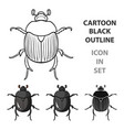 dor-beetle icon in cartoon style isolated on white vector image