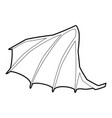 Dragon wing icon outline style vector image