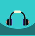 flat icon design collection music headphones vector image