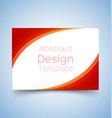 flyer template wave design 1 vector image