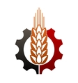 Icon depicting agriculture and industry vector image