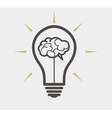 idea concept - bulb and brain vector image