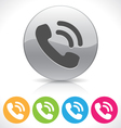 phone button vector image