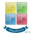 scissors barbershop symbol of hair and beauty vector image