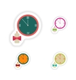 stylish concept paper sticker Watch Christmas vector image