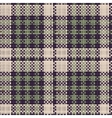 Seamless texture of rough cotton fabric with plaid vector image