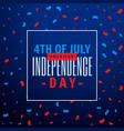 4th of july celebration party background vector image