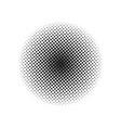 halftone dotted vintage retro circle gradients vector image