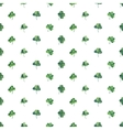 Seamless watercolor background with green clover vector image vector image