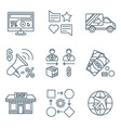 various dark color outline business distribution vector image
