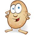 potato cartoon isolated on white background vector image vector image