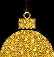Christmas Ball with Golden Sparkle Surface vector image