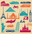 Tourism icons set vector image