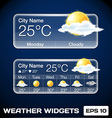 Weather Widgets vector image