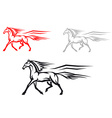 mustang horse vector image vector image