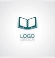 book datadigital logo vector image