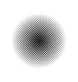 halftone dotted vintage retro circle gradients vector image