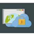internet security global web cloud vector image