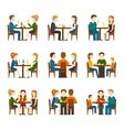 People In Restaurant Set vector image