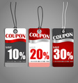 Price tag sale coupon voucher Vintage Style vector image